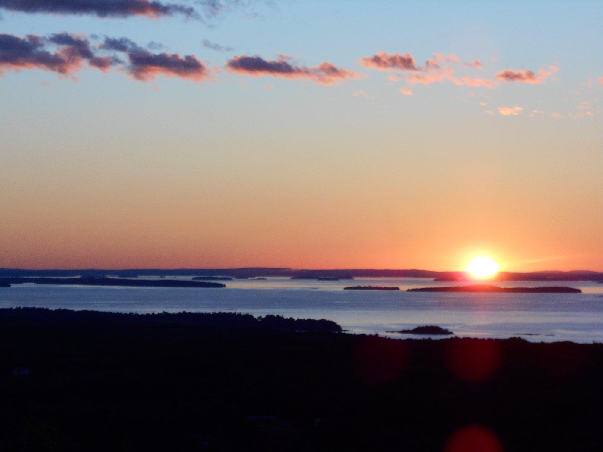 Rockport, Maine sunrise from Dodge Mountain