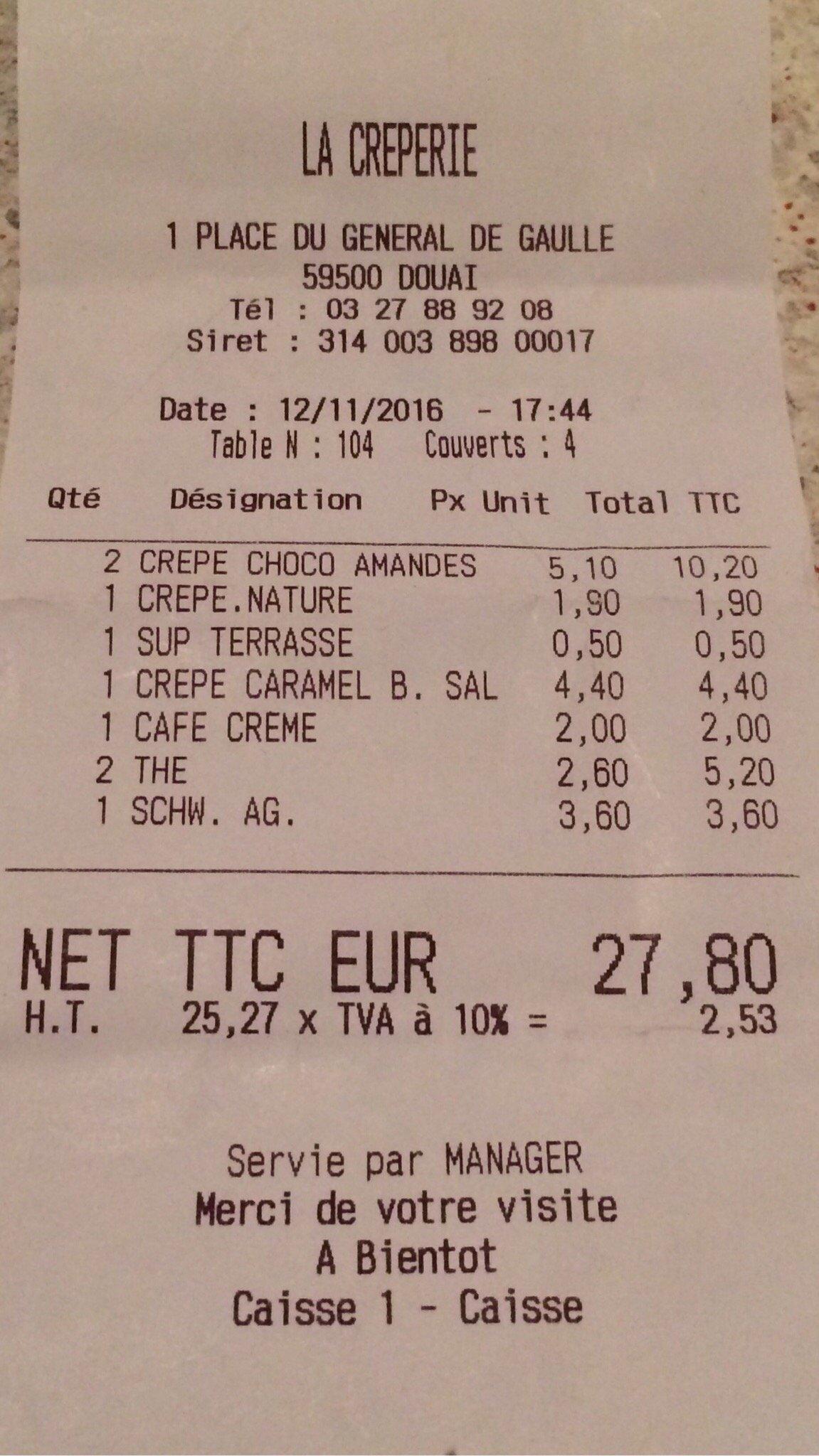 La Crªperie Clery Douai Restaurant Avis Numéro de Téléphone
