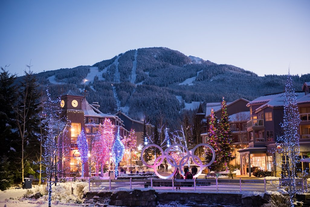 Whistler Village in the Winter Photo by Mike Crane