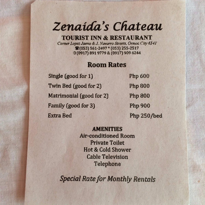 Zenaida's Chateau Tourist Inn&Restaurant