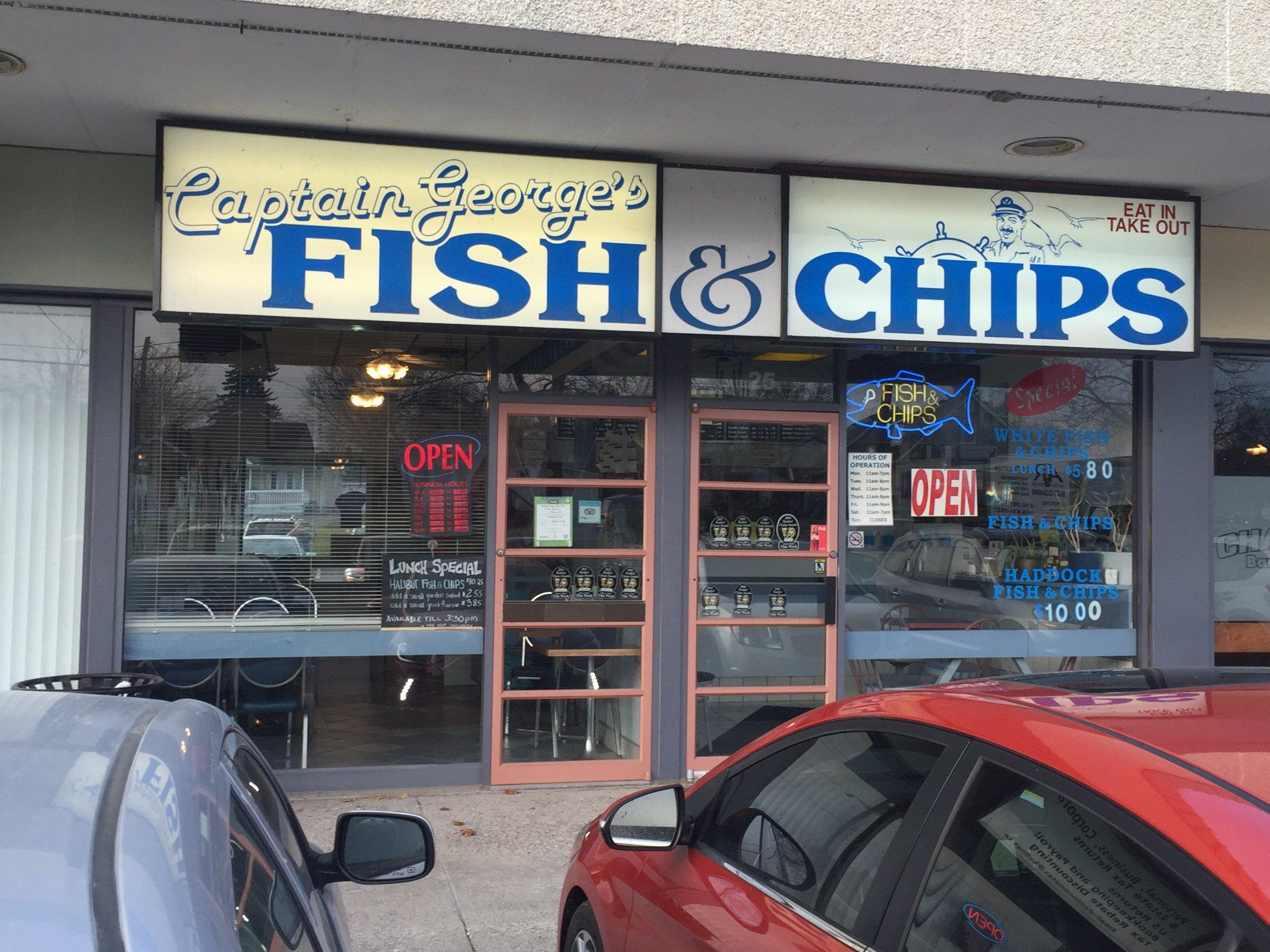 White apron oshawa - Captain George Fish Chips
