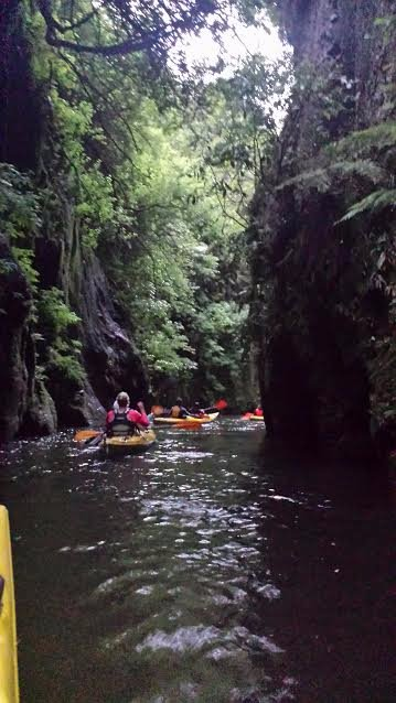 Feeling like NZ discoverers as we paddled through the gorge