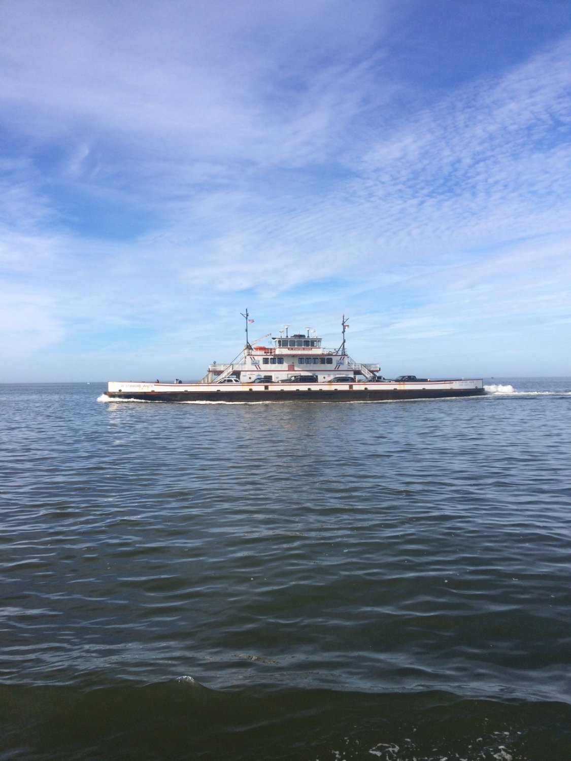 Ferry passing