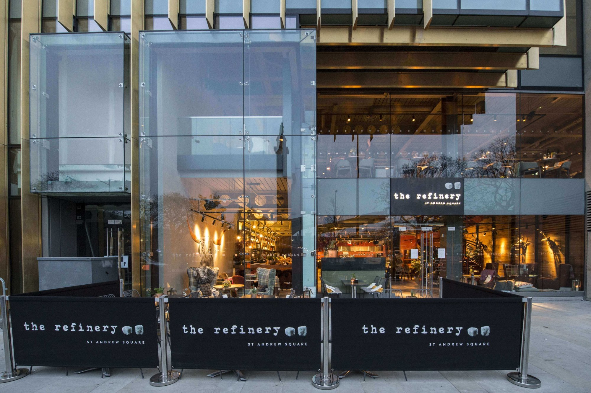 The refinery st andrew square edinburgh new town for O kitchen edinburgh menu