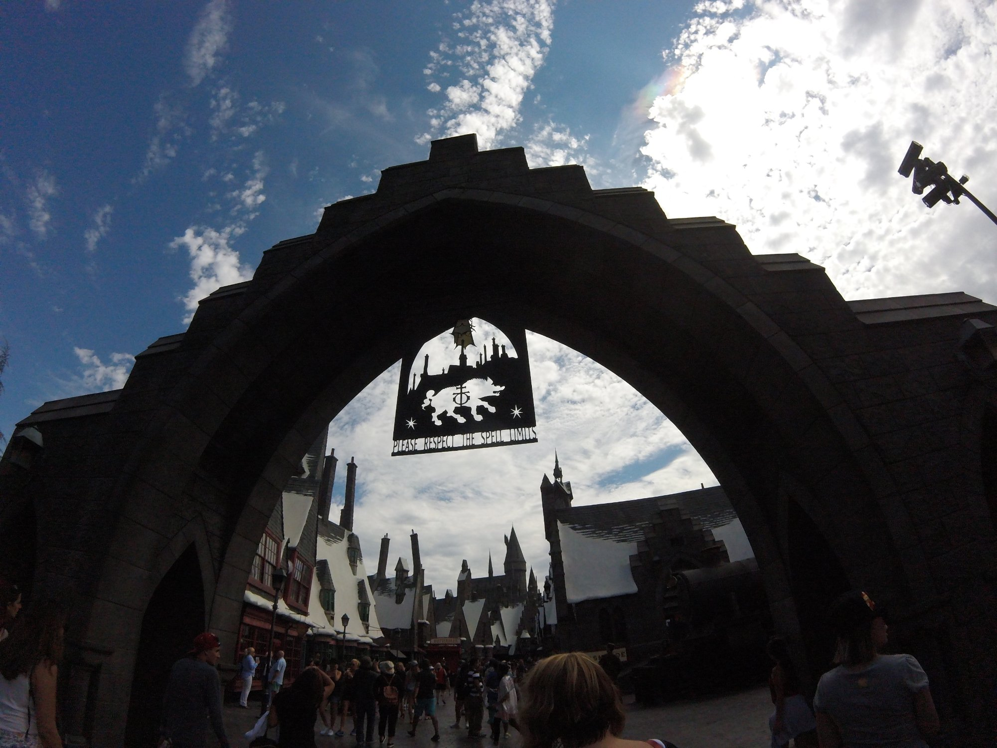 the entrance to hp