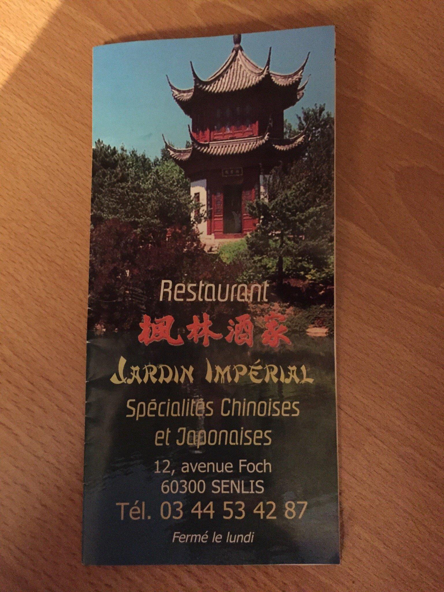 Le jardin imperial senlis restaurant avis num ro de for Jardin imperial