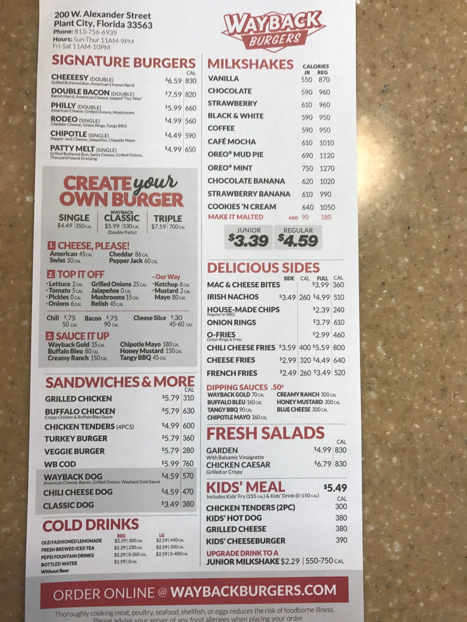 wayback burgers, plant city - restaurant reviews, phone number