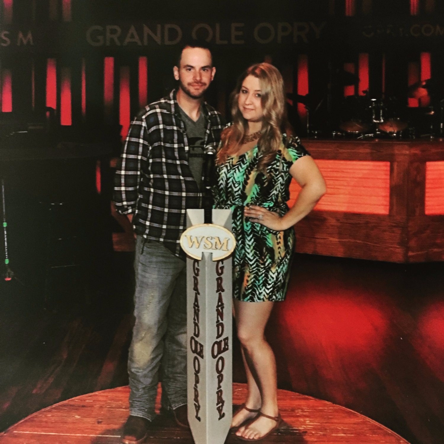 On stage tour photo at The Grand Ol' Opry