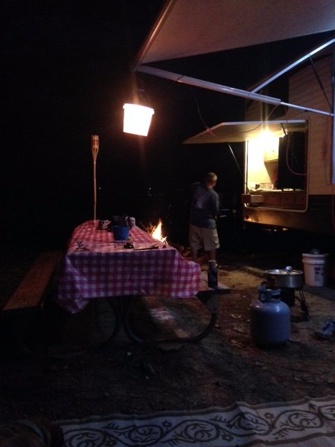 Picture of our campsite at night. We were on C25.
