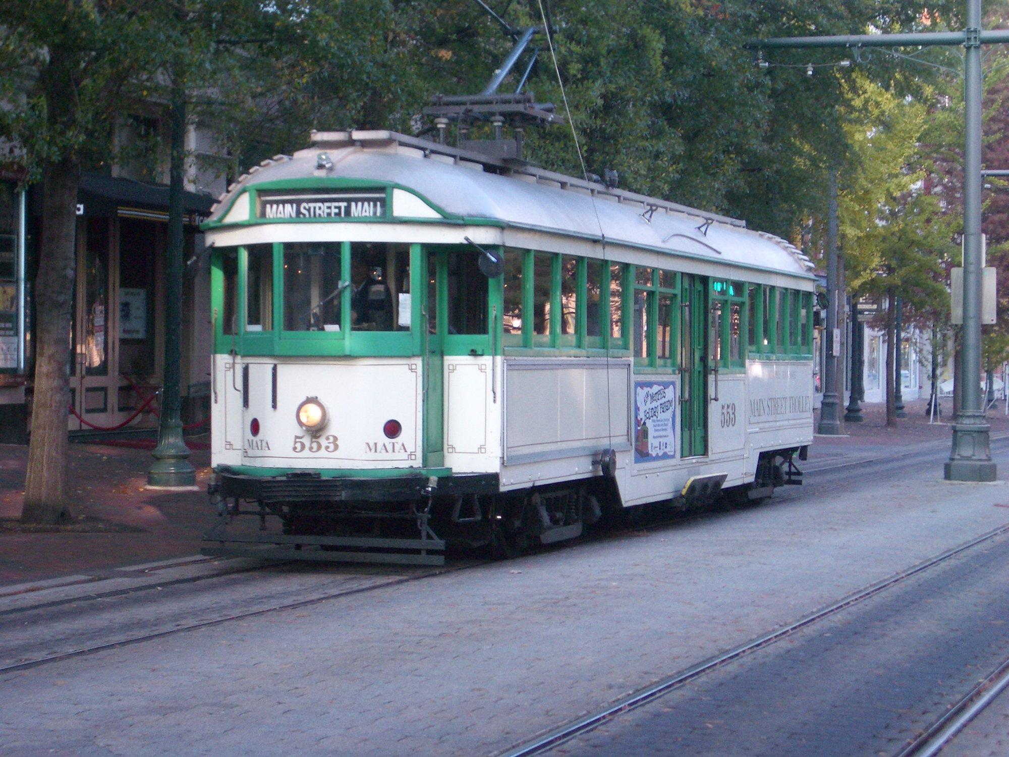MATA Tram in Memphis