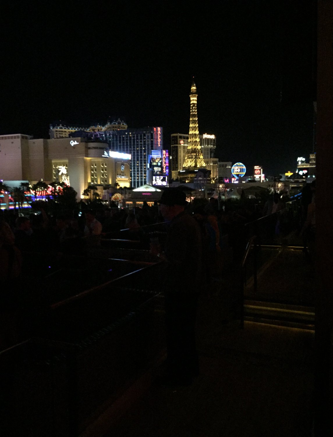 Roof top bottle service view at Omnia Nightclub at Caesar's Palace