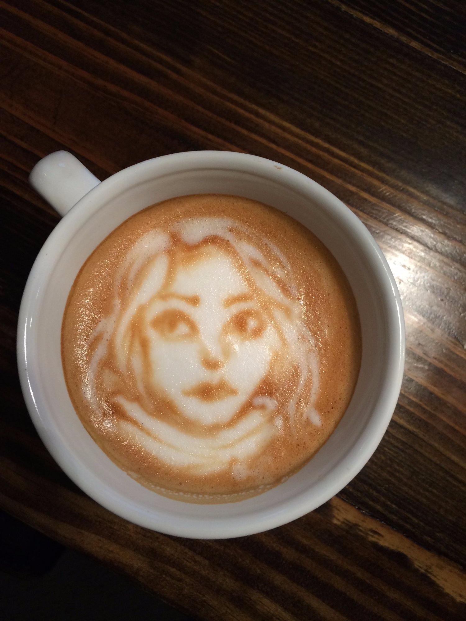 Latte art by Abigail!