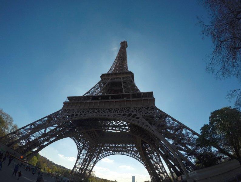 Torre Eiffel sacado con Go Pro