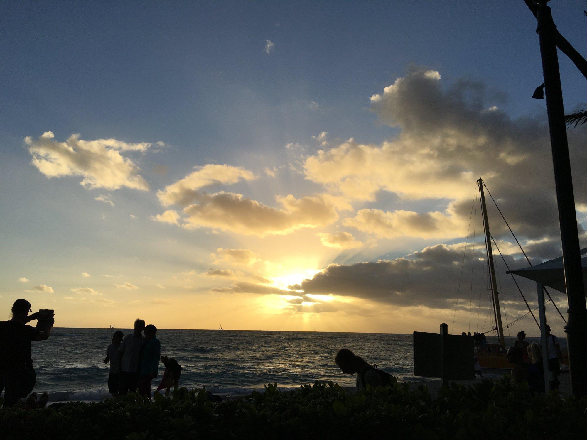 Don't miss Waiki Beach, this photo taken from the Royal Hawaiian Hotel