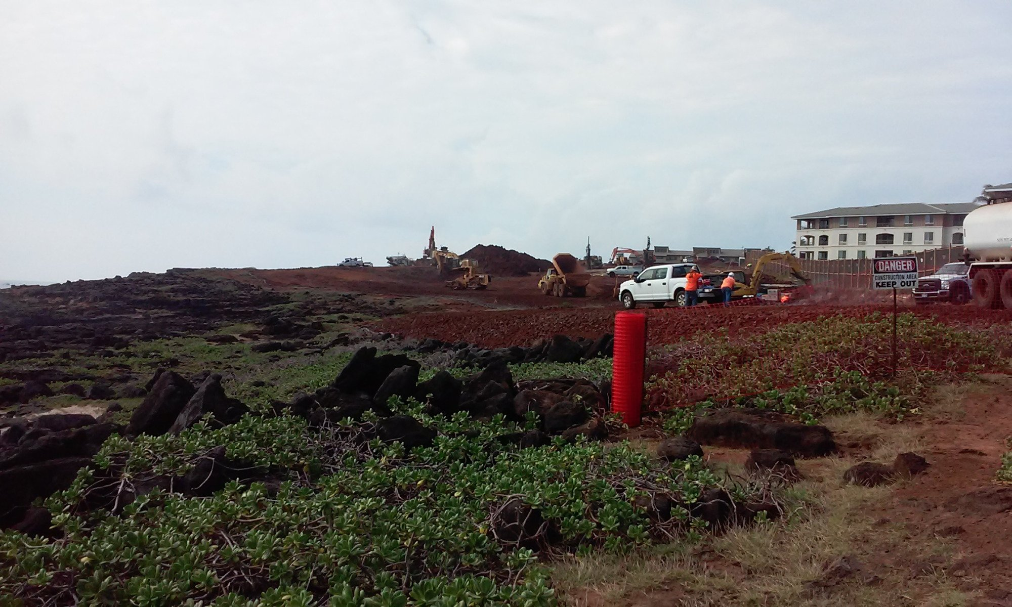 Construction at Makahuena Point