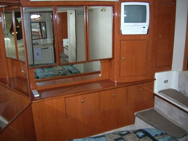 Interior of Time Off Sea Ray 42' Aft Cabin