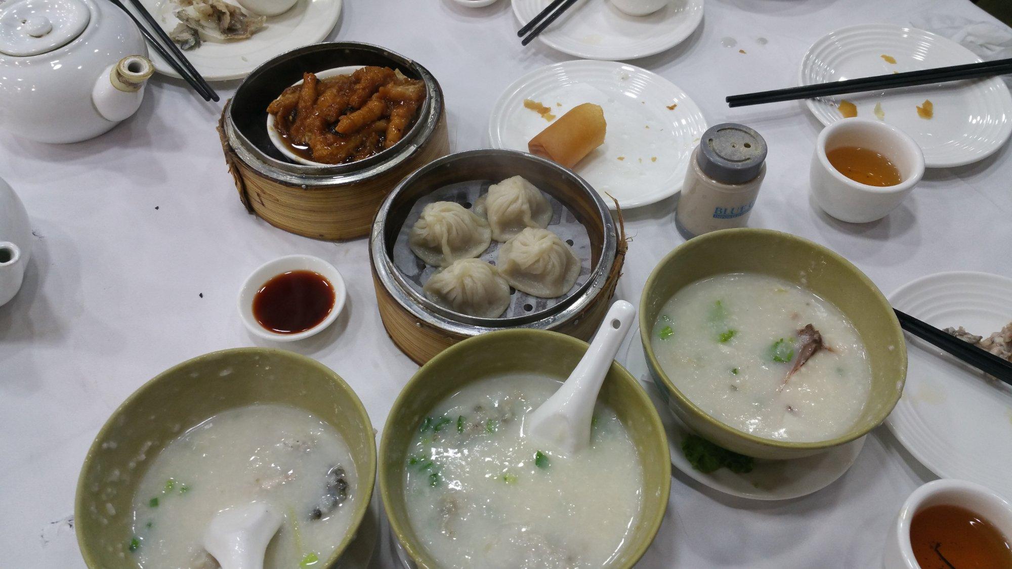 Chicken feet, dumpling, congee..