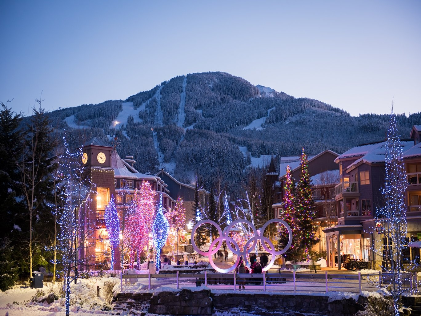 Whistler Village in Winter Photo by Mike Crane
