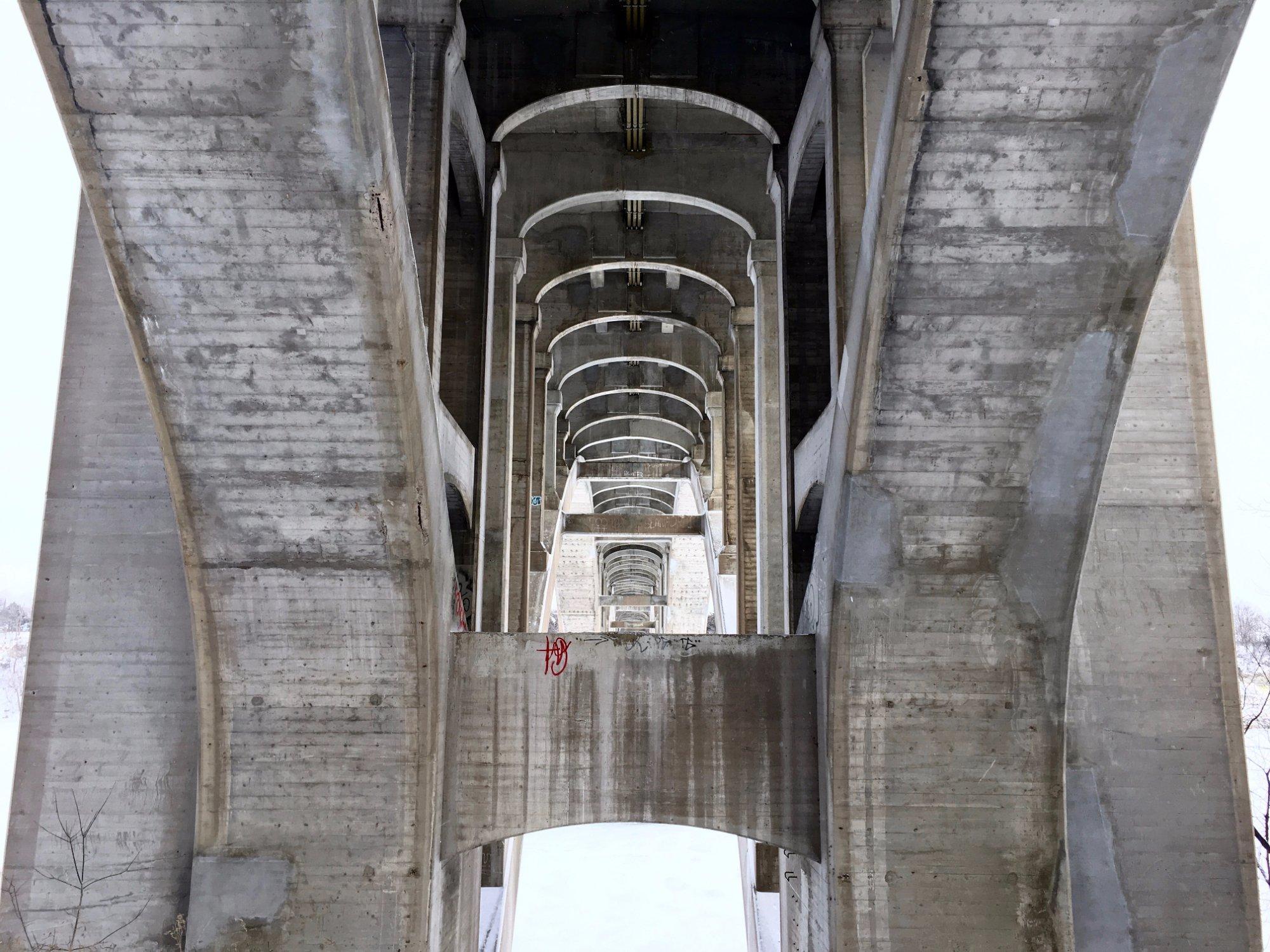 Under the Ford Street Bridge