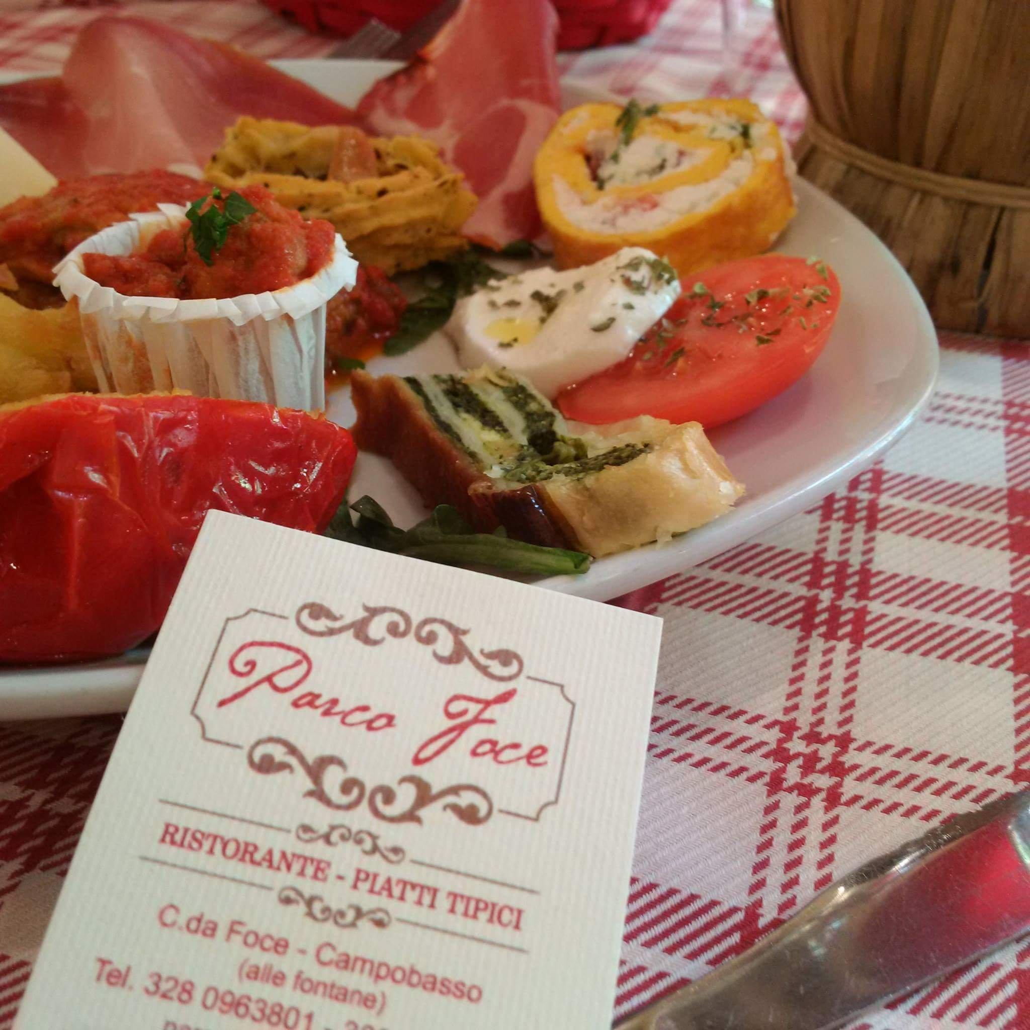 Parco Foce ristorante piatti tipici