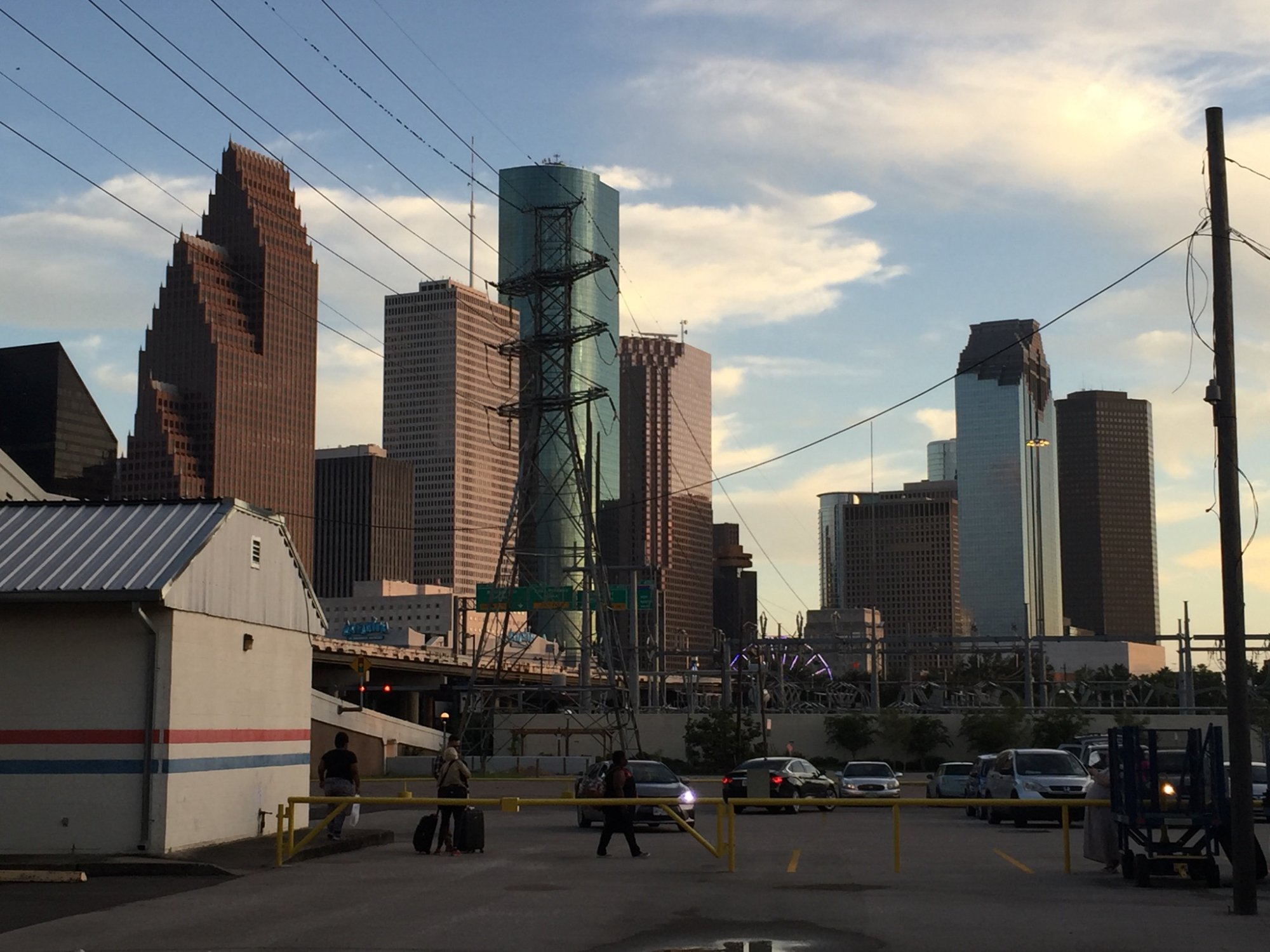 Downtown Houston as seen from the train station.