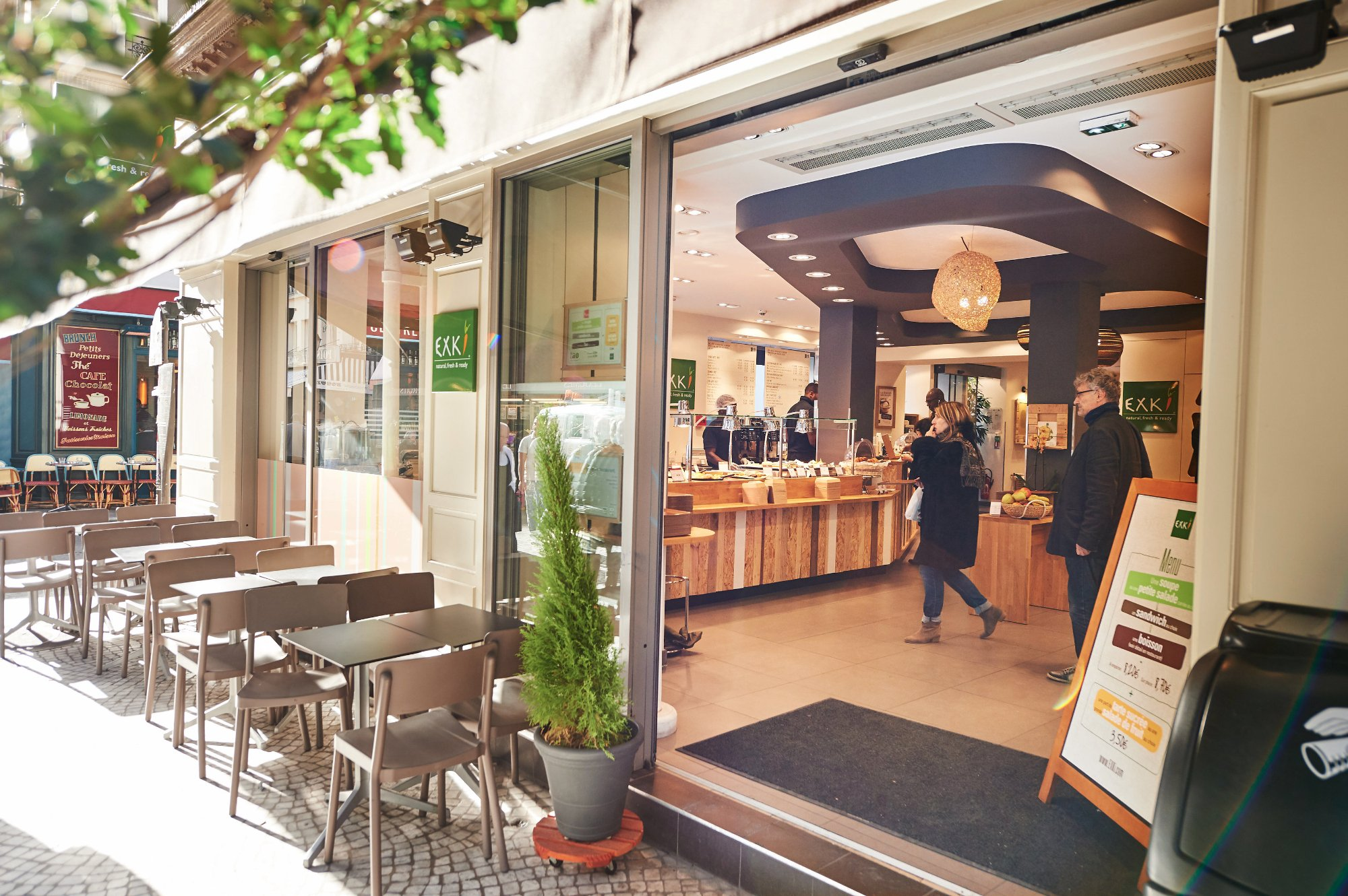 Exki par s 59 rue montorgueil op ra bourse n mero for Bourse exterieur