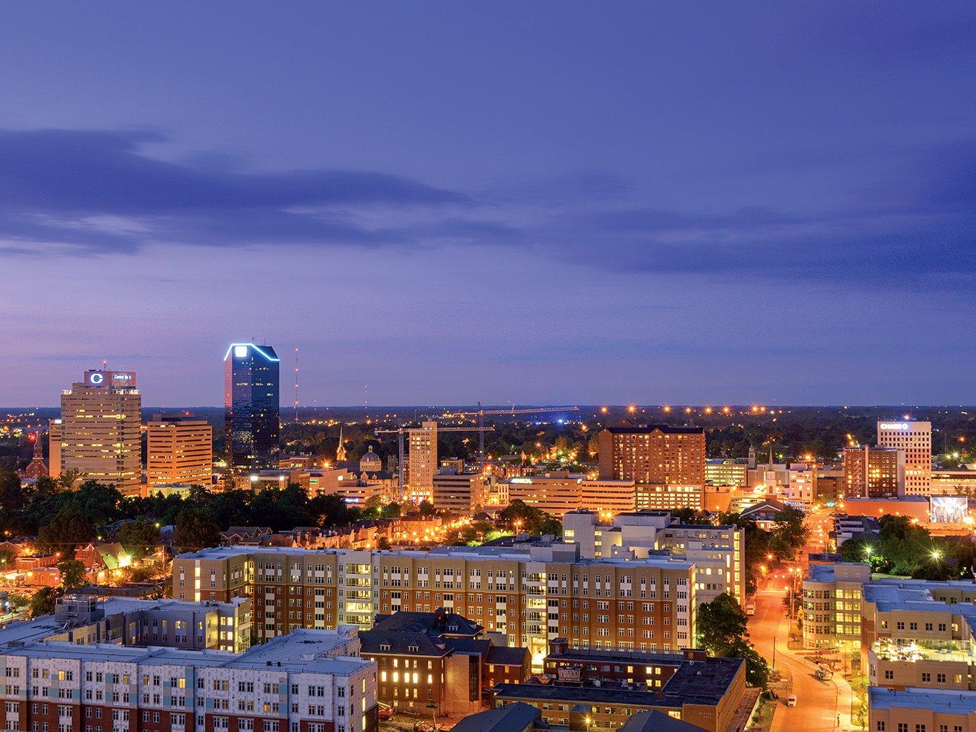 Downtown Lexington Skyline at Night