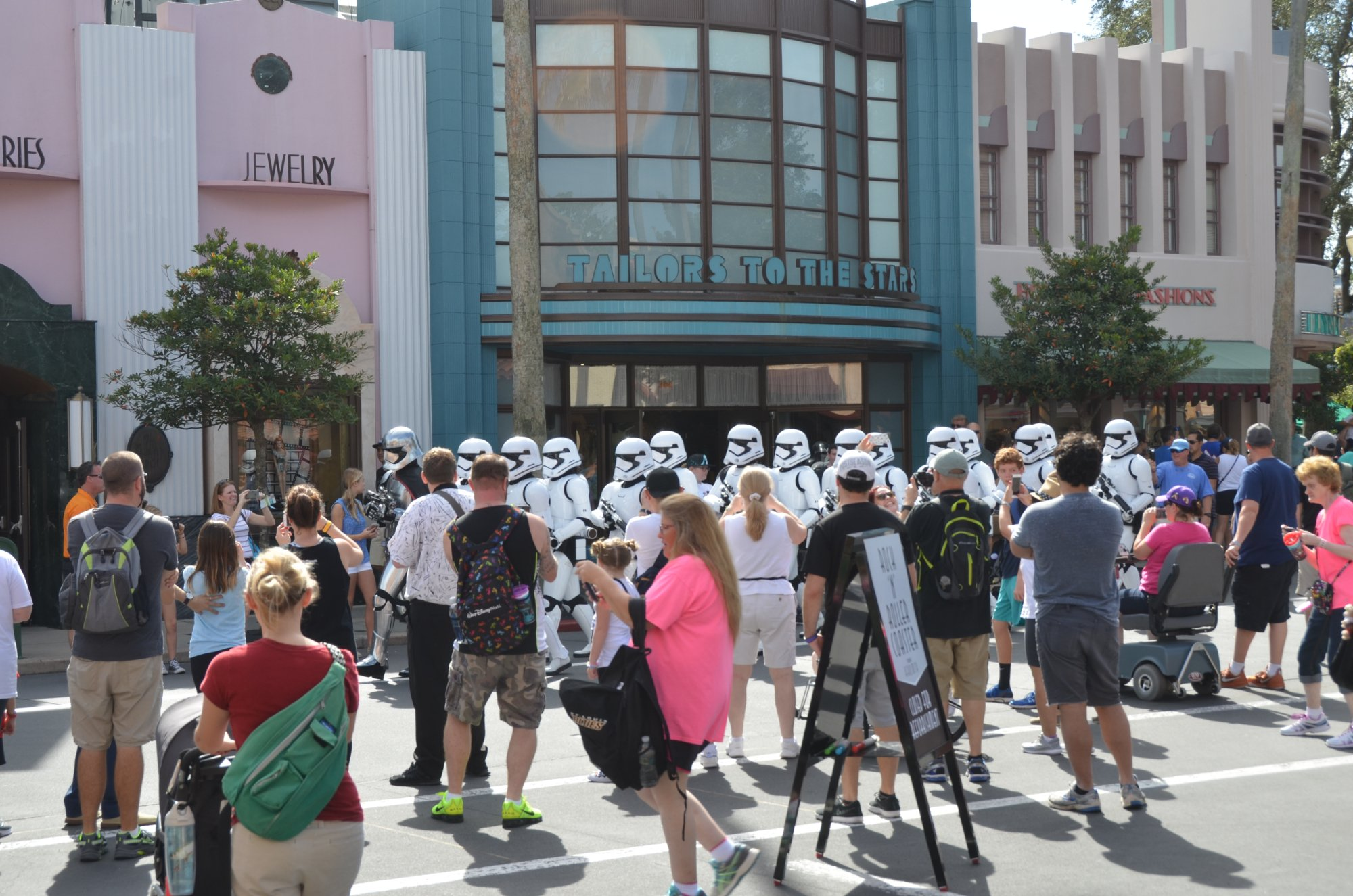 Storm Troopers march at Hollywood Studios