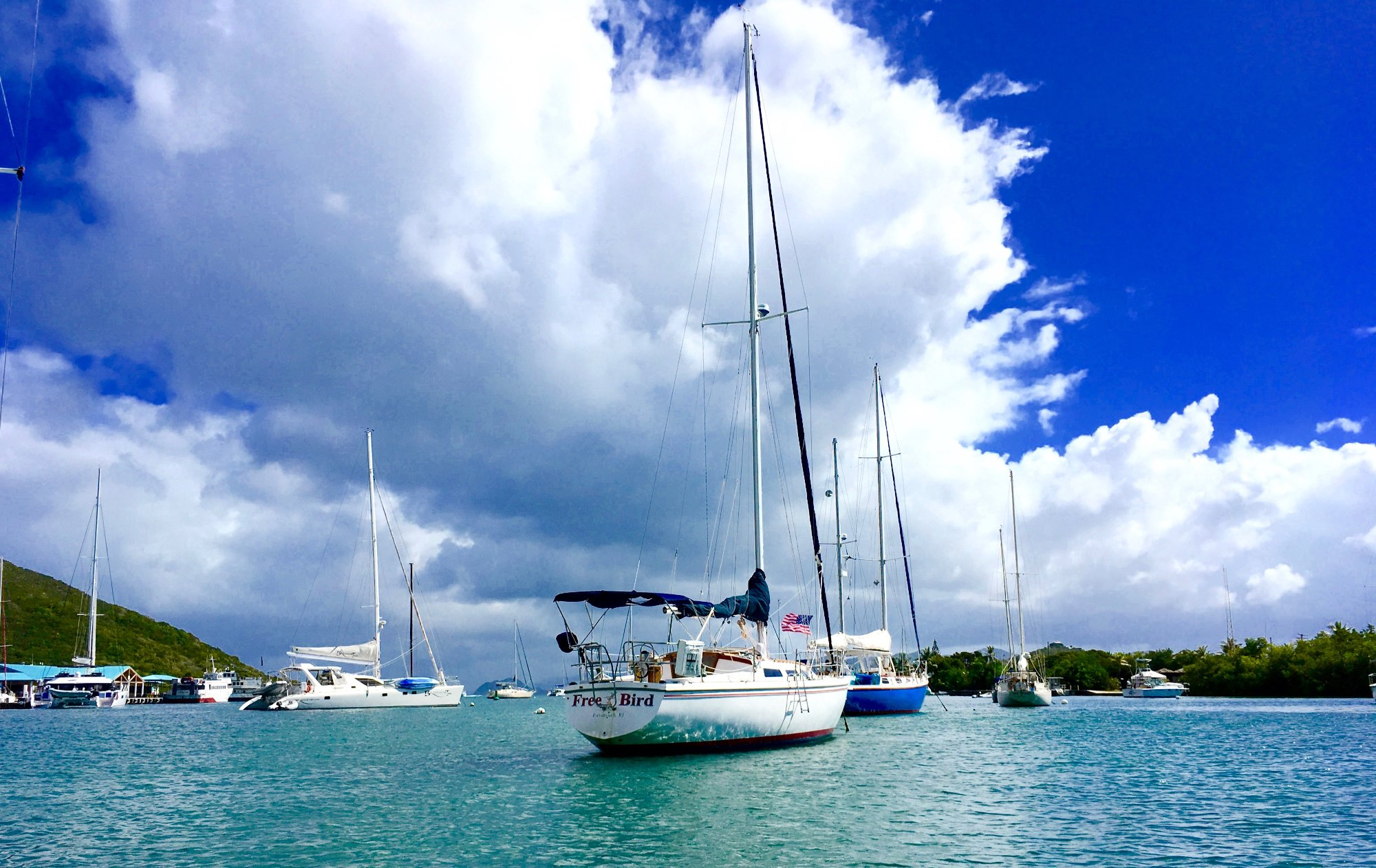Day sail on Free Bird, Red Hook, St. Thomas