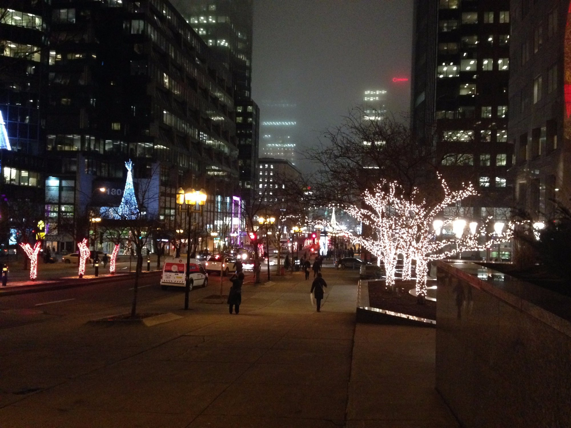 Christmas Lights on McGill College Avenue and President-Kennedy Avenue
