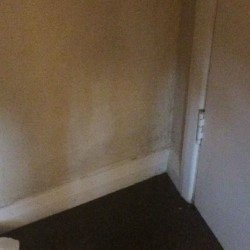 Dirty wall in room