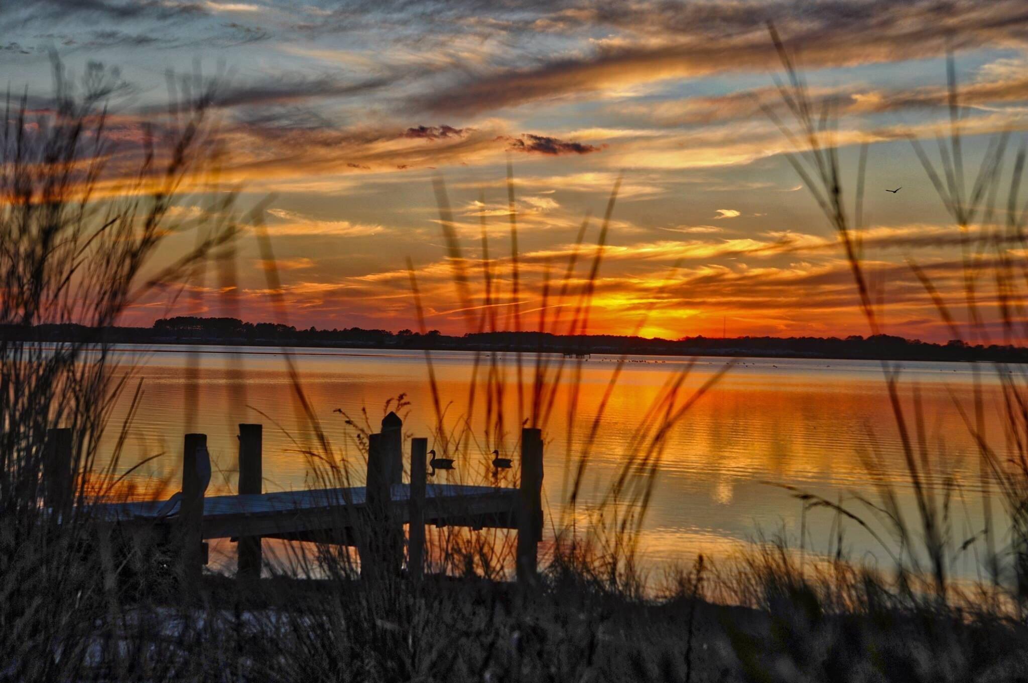 Sunset on the Little Assawoman Bay Fenwick Island DE