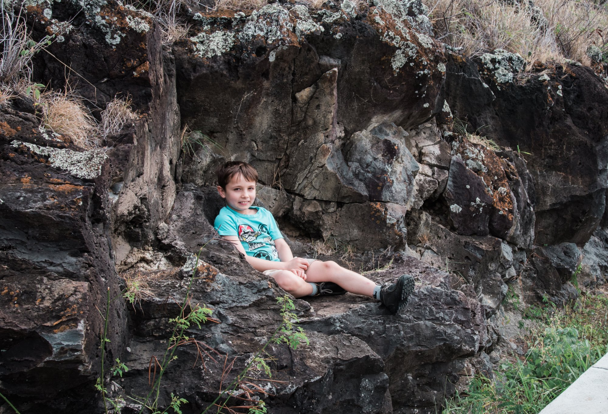My grandson, taken on our way up to the Makapuu Lighthouse, Oahu