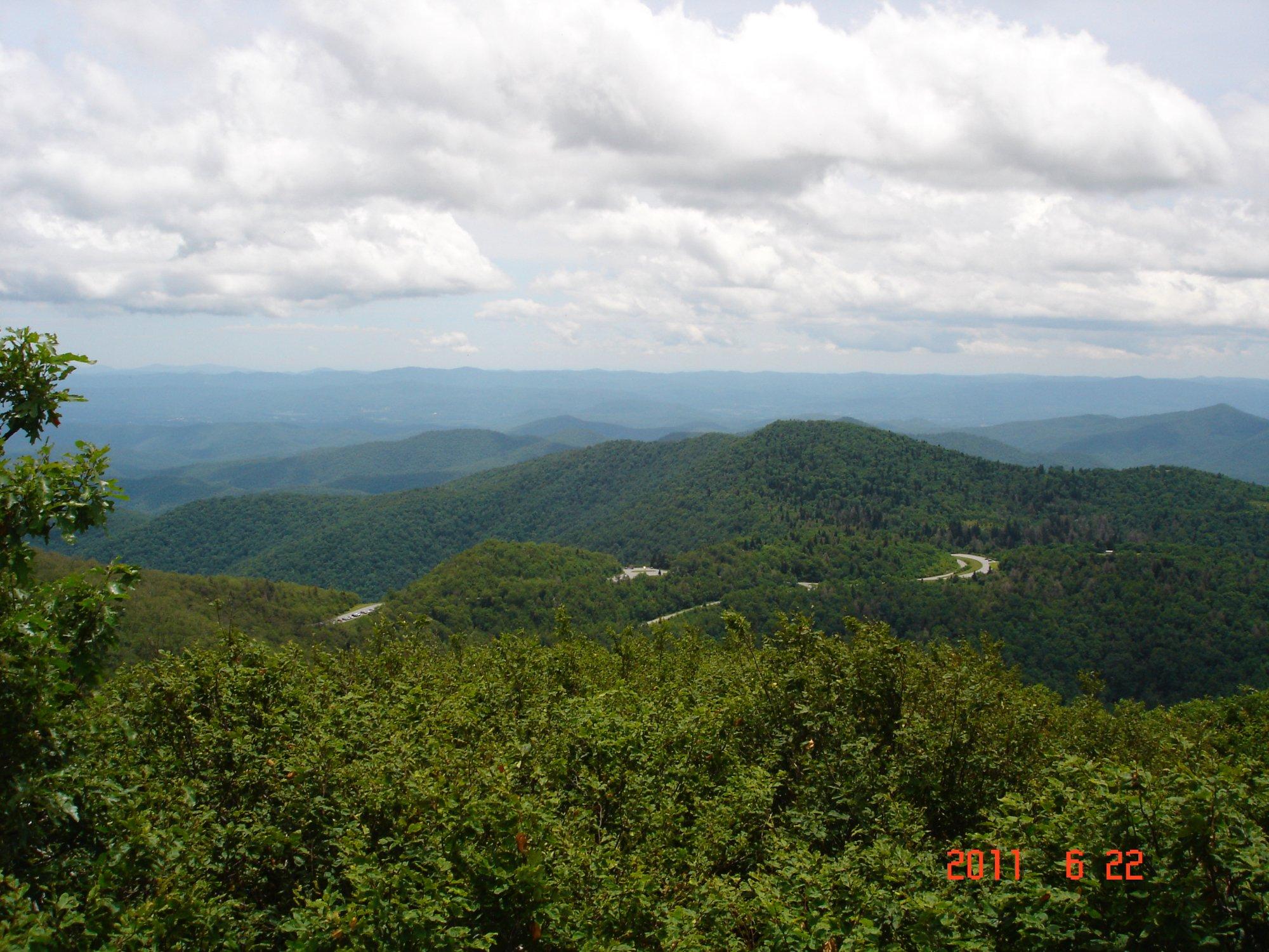 At the top of Mt. Pisgah