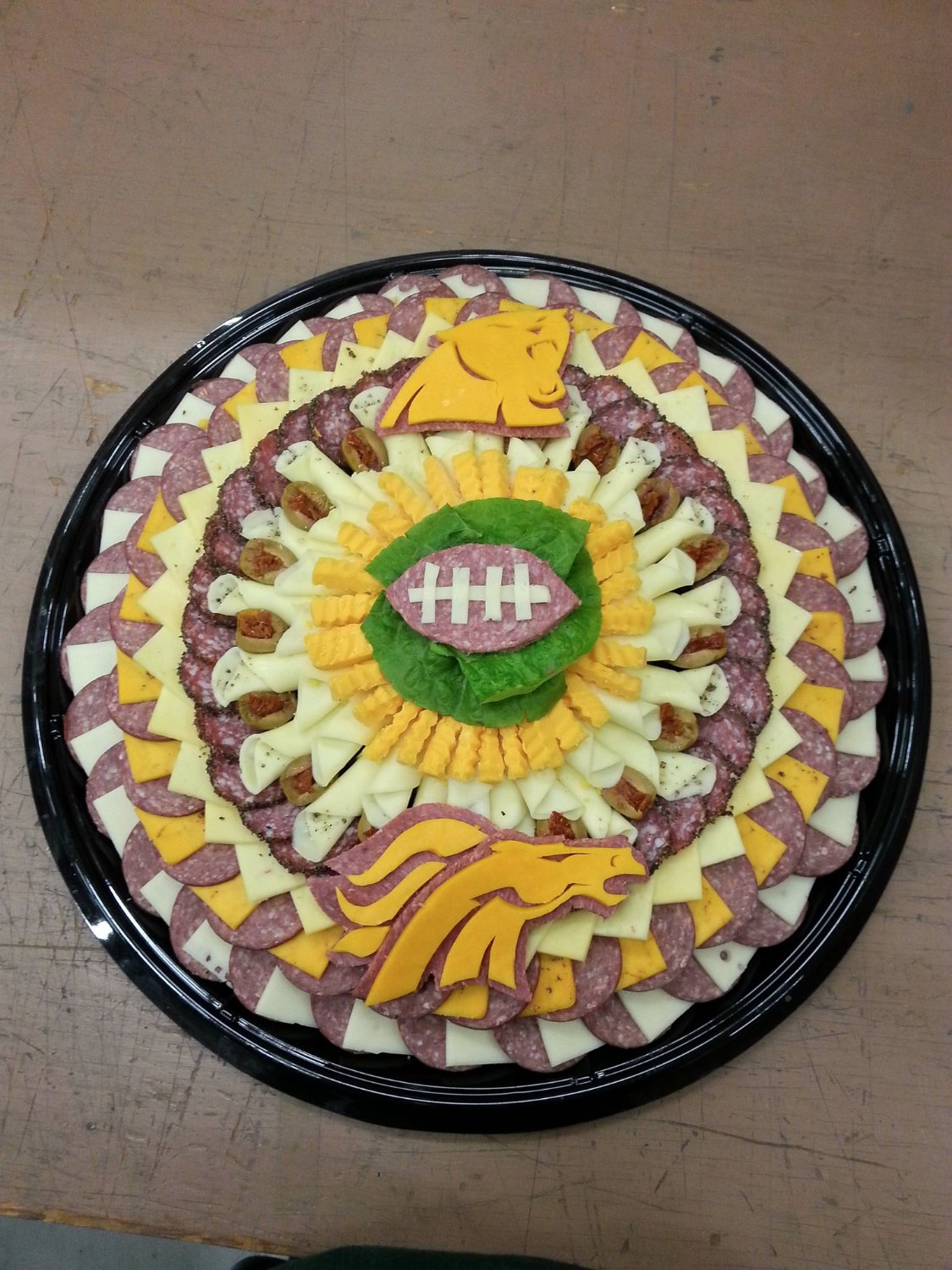 Order a personalized party platter for any occasion...even if the Packers don't make the Superbo