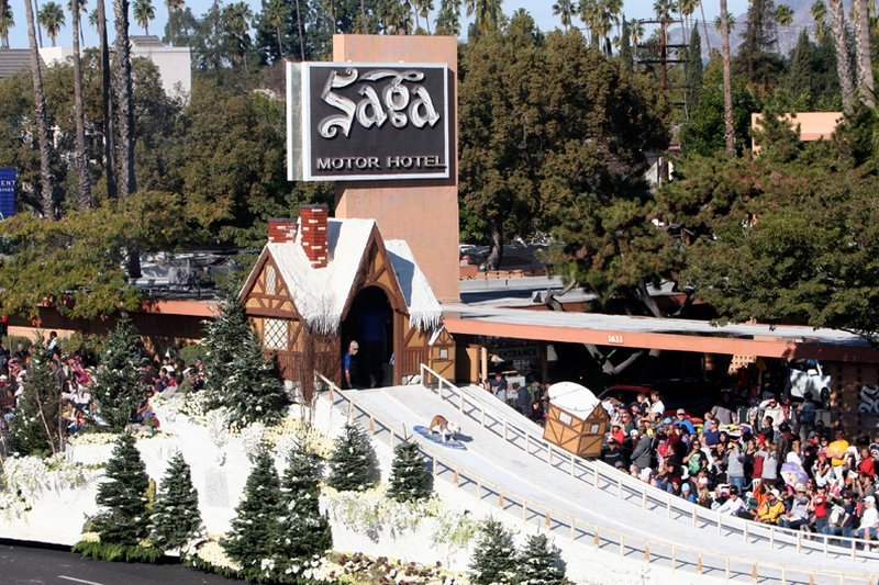 Saga Motor Hotel Pasadena Kalifornien Omd Men Och