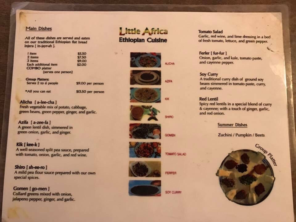 Little africa cuisine grand rapids menu prices for African cuisine menu