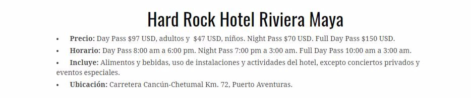 Day pass en Hard Rock Hotel