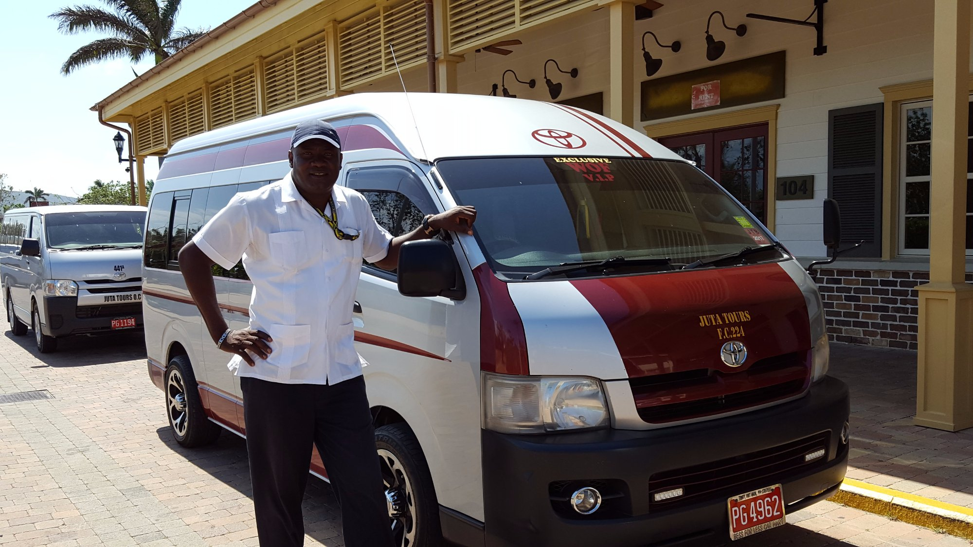 WOF VIP Tours - Wayne Ferguson and his airconditioned van email: wofjamaicatours@gmail.com
