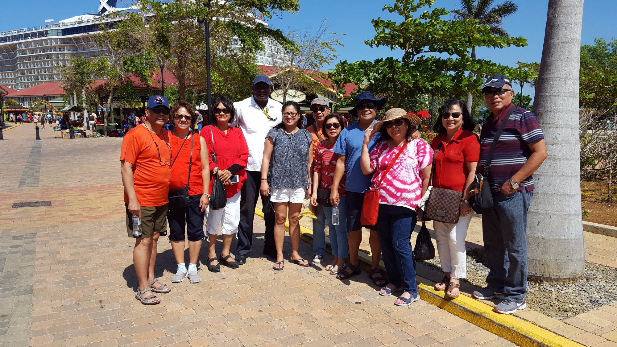 WOF VIP Tours - Wayne Ferguson posing with our group of 10 friends.. Email:wofjamaicatours@gmail