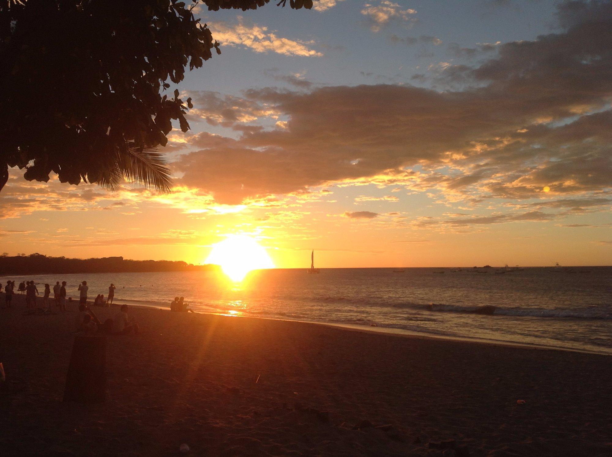 Tamarindo sunset.