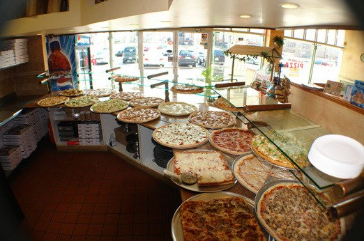 Some of their pizza by the slice options!
