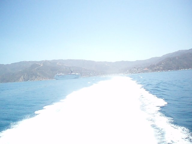 Our boat returning to Los Angeles from Catalina Island, no doubt along side a Bloody Mary!!