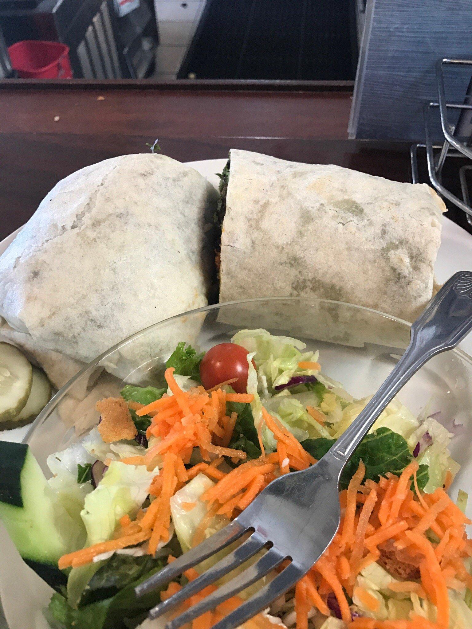 Prime rib sandwich & buffalo chicken wrap!!