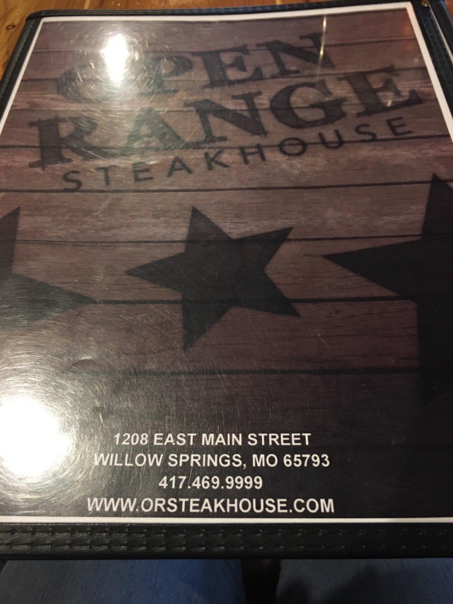 Us Area Code Range%0A Open Range Steakhouse  Willow Springs  Menu  Prices  u     Restaurant Reviews   TripAdvisor