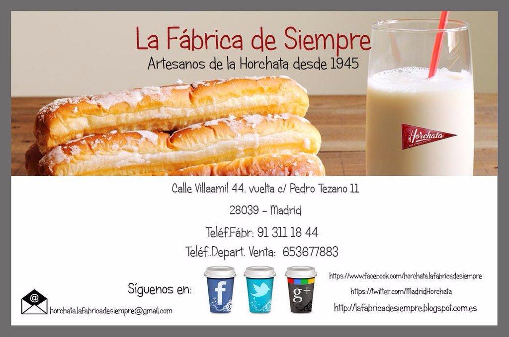 Restaurante la fabrica de horchata en madrid - Fabrica de cocinas en madrid ...
