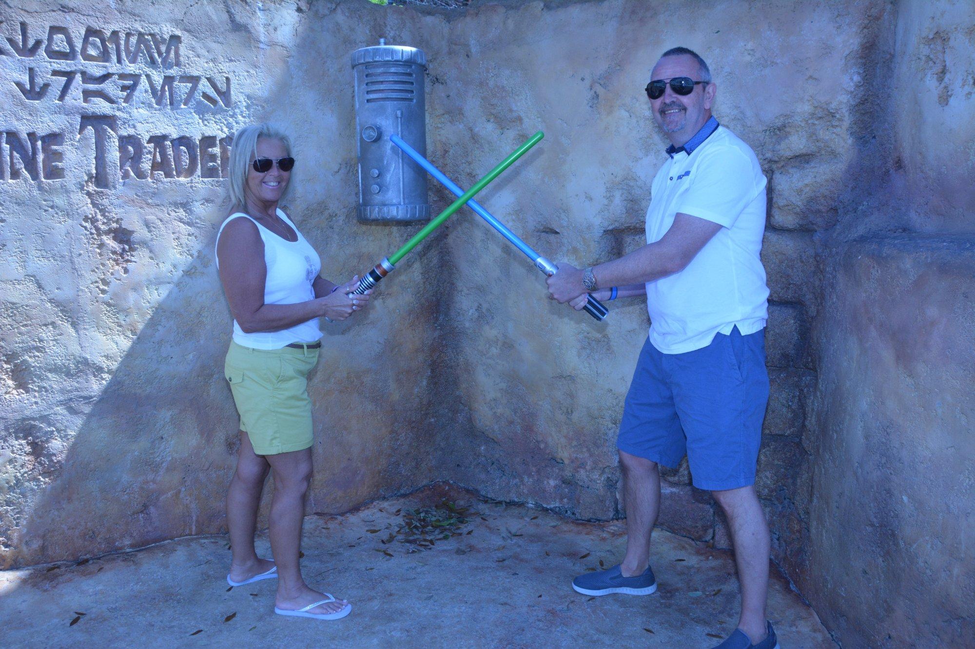 Picture taken at star wars ride