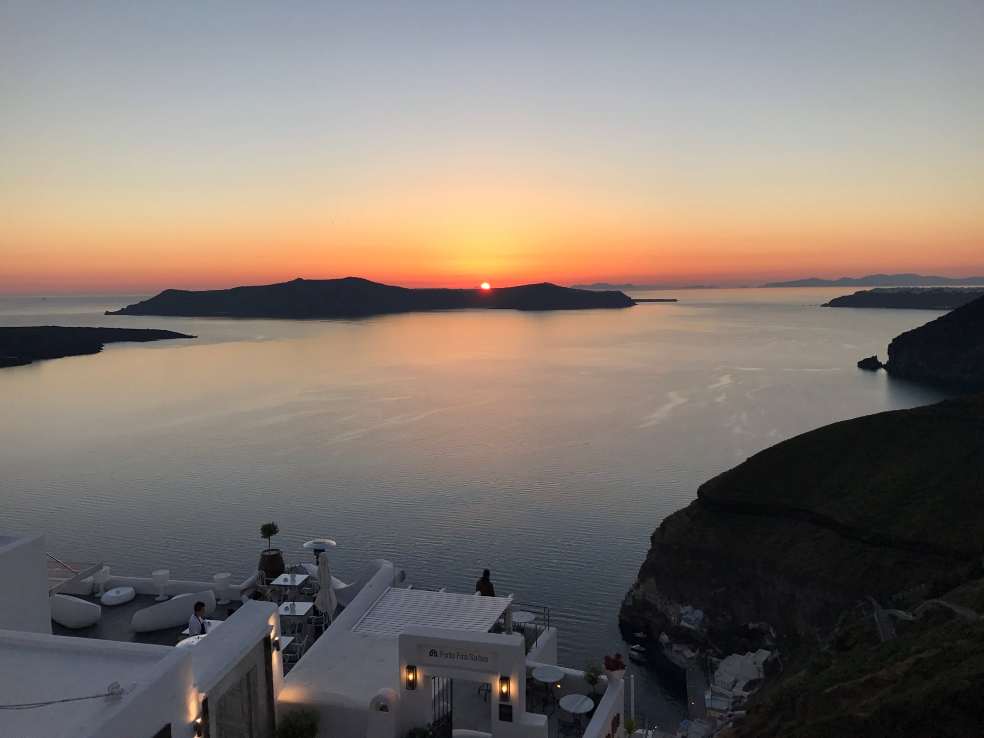 Santorini Reflexions Volcano