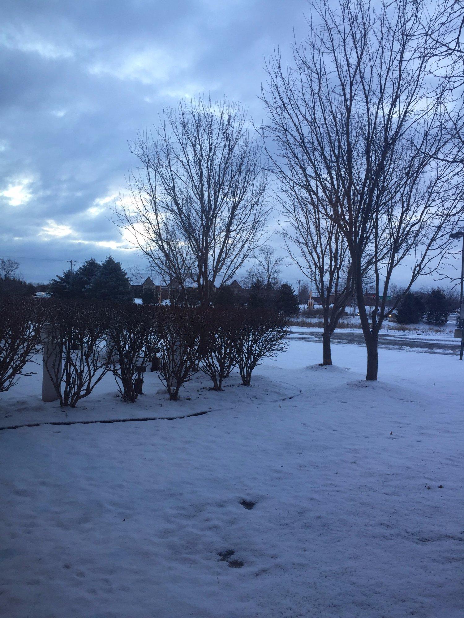 Vista de St Paul Nevada desde el Hotel Hilton Garden Inn
