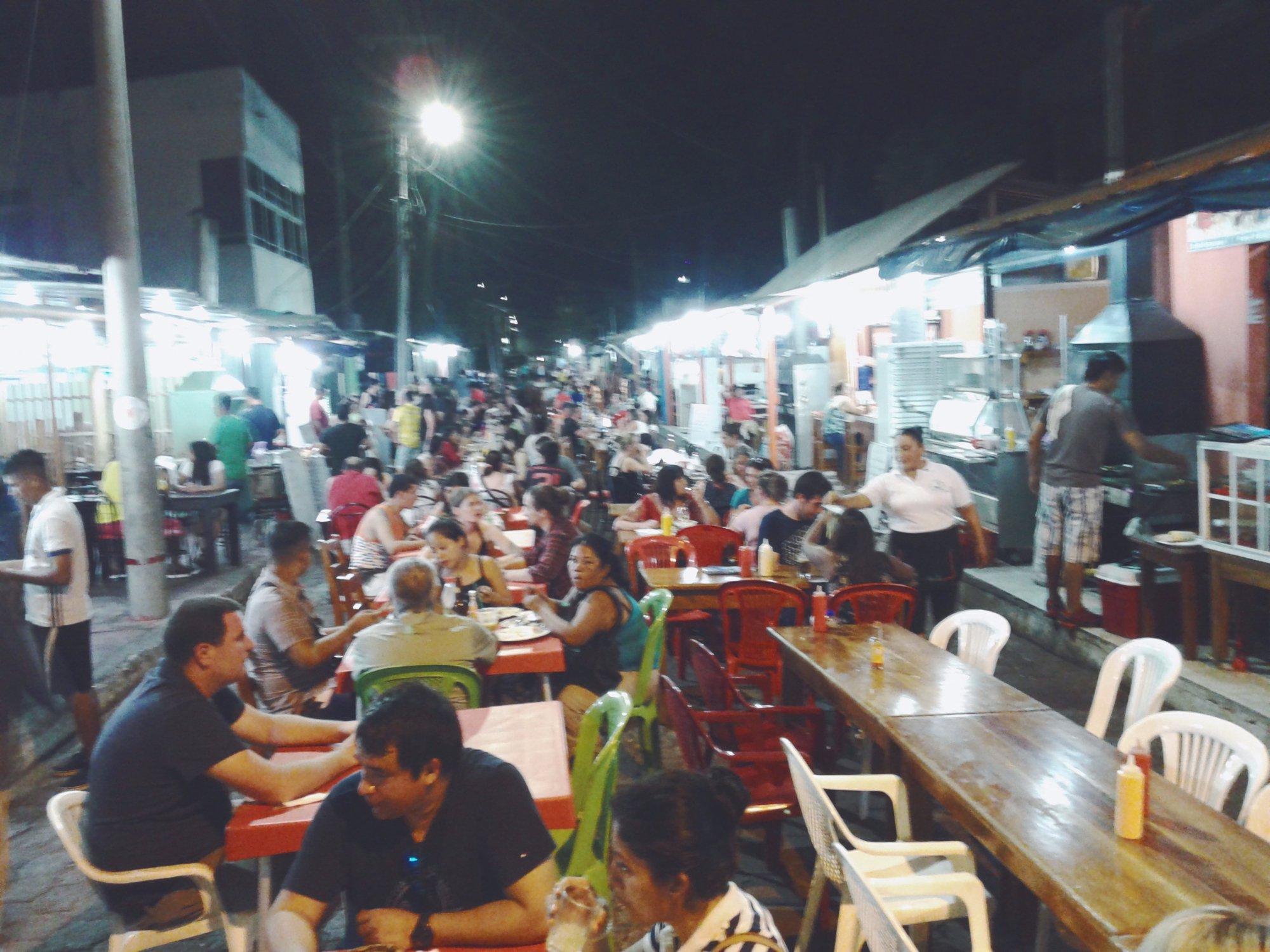 the food market in Puerto Ayora